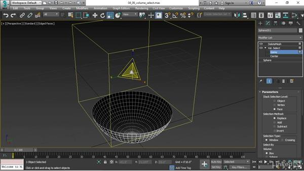 Using a Volume Select modifier: 3ds Max 2017 Essential Training