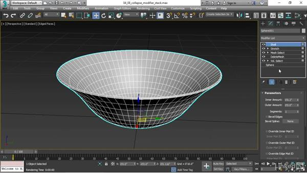 Collapsing the modifier stack: 3ds Max 2017 Essential Training