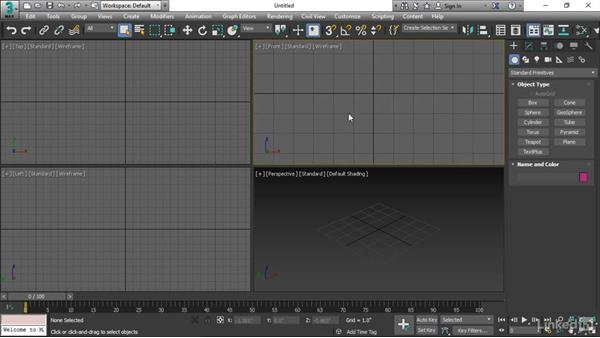 Creating a line: 3ds Max 2017 Essential Training