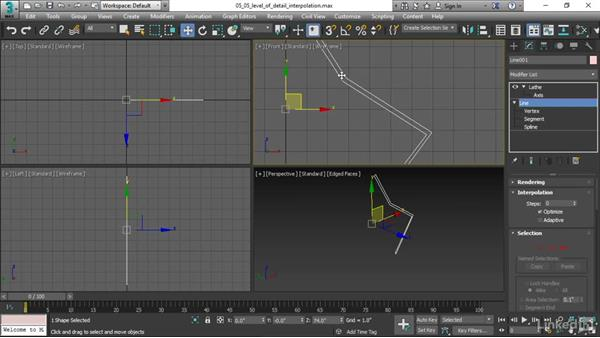 Adjusting level of detail with Interpolation: 3ds Max 2017 Essential Training