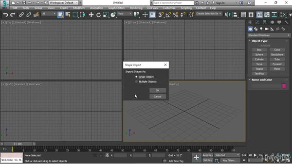 Importing Illustrator paths to 3ds Max: 3ds Max 2017 Essential Training