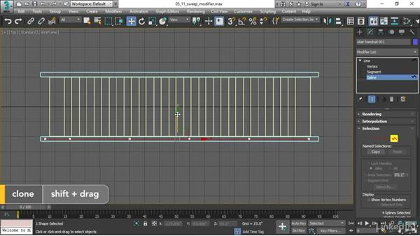 Lofting with the Sweep modifier: 3ds Max 2017 Essential Training