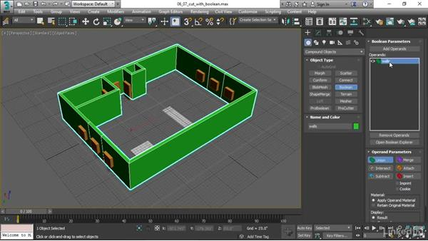 Cutting with Booleans: 3ds Max 2017 Essential Training