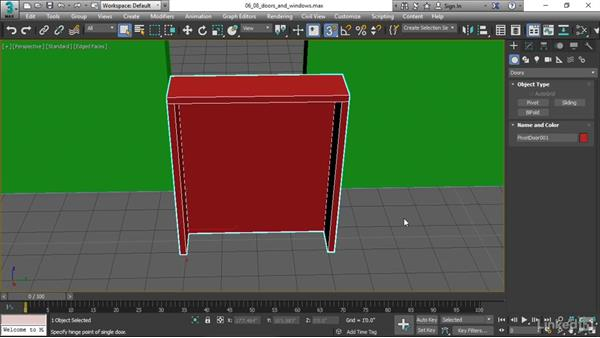 Creating doors and windows: 3ds Max 2017 Essential Training