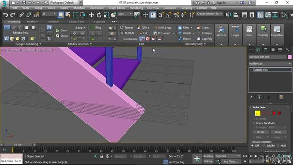 Constraining sub-object transforms: 3ds Max 2017 Essential Training