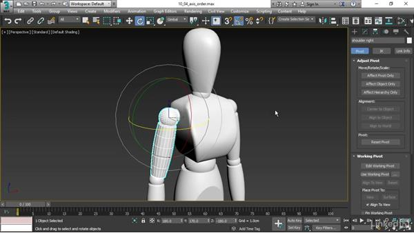 Setting rotation Axis Order: 3ds Max 2017 Essential Training