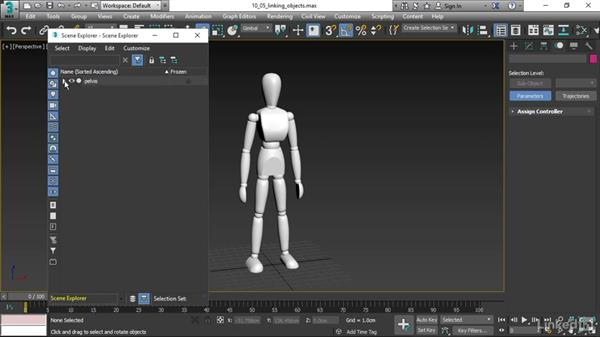 Linking objects: 3ds Max 2017 Essential Training