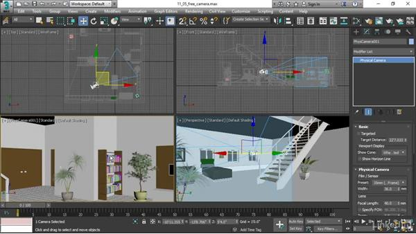 Creating a free camera: 3ds Max 2017 Essential Training