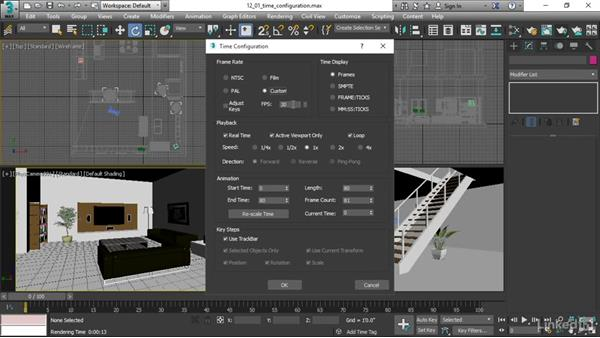 Setting up Time Configuration: 3ds Max 2017 Essential Training