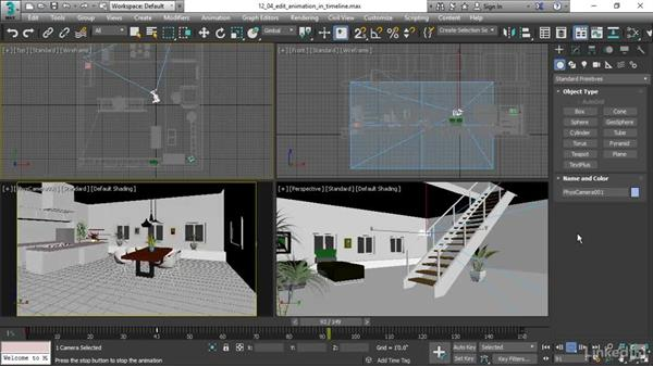 Editing animation in the timeline: 3ds Max 2017 Essential Training