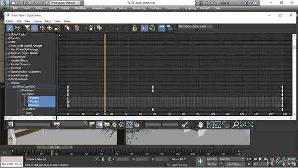 Editing animation in the Dope Sheet: 3ds Max 2017 Essential Training