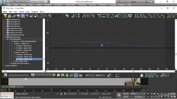 Interpolating keys in the function Curve Editor: 3ds Max 2017 Essential Training