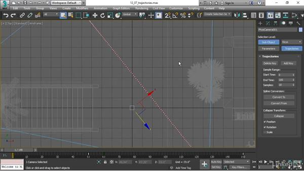 Moving position keys with trajectories: 3ds Max 2017 Essential Training
