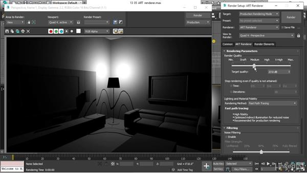 Using the art renderer: 3ds Max 2017 Essential Training