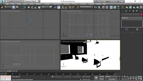 Creating a sun and sky: 3ds Max 2017 Essential Training