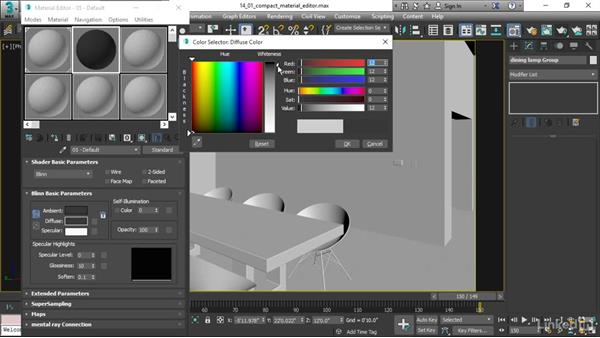 Using the Compact Material Editor: 3ds Max 2017 Essential Training
