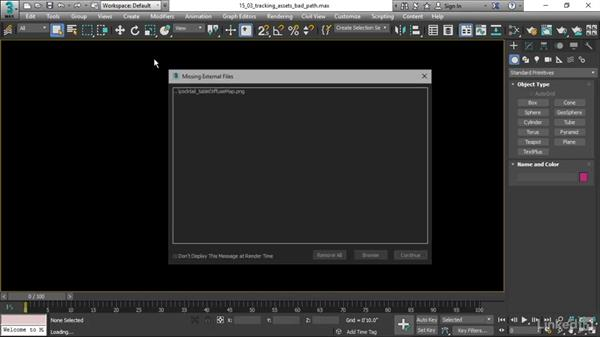 Tracking scene assets: 3ds Max 2017 Essential Training
