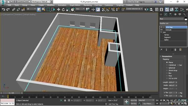Projecting UVs with UVW Map: 3ds Max 2017 Essential Training