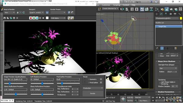 Setting mental ray render options: 3ds Max 2017 Essential Training