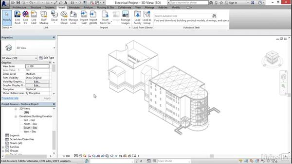 Touring the user interface: Revit 2017: Essential Training for MEP (Metric)