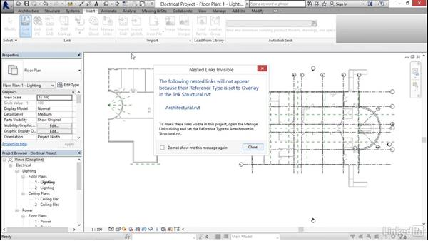 Linking other models: Revit 2017: Essential Training for MEP (Metric)