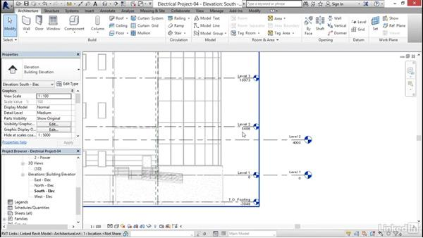 Copying levels and setting up monitoring: Revit 2017: Essential Training for MEP (Metric)