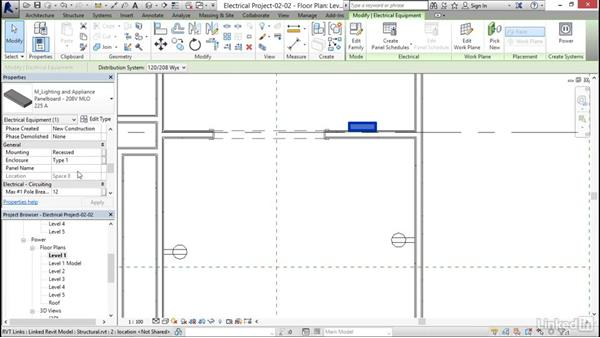 Adding panels: Revit 2017: Essential Training for MEP (Metric)