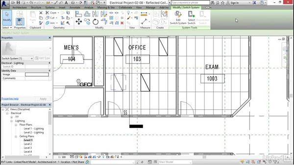 Creating a switching circuit: Revit 2017: Essential Training for MEP (Metric)