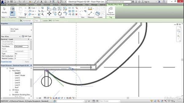 Creating and labeling a wiring plan: Revit 2017: Essential Training for MEP (Metric)