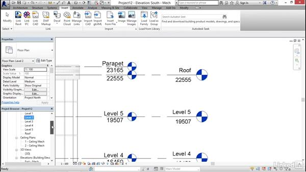 Starting a mechanical project: Revit 2017: Essential Training for MEP (Metric)