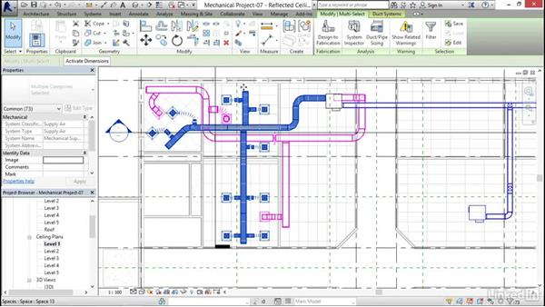 Sizing a duct: Revit 2017: Essential Training for MEP (Metric)