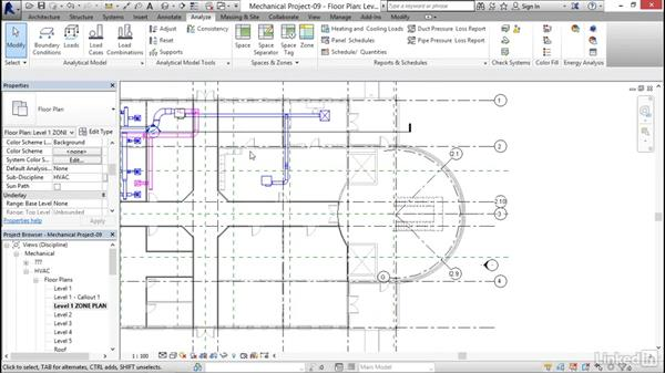 Creating HVAC zones: Revit 2017: Essential Training for MEP (Metric)