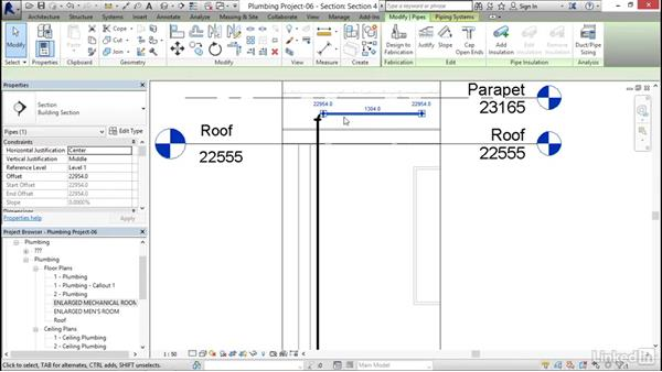 Adding additional piping: Revit 2017: Essential Training for MEP (Metric)