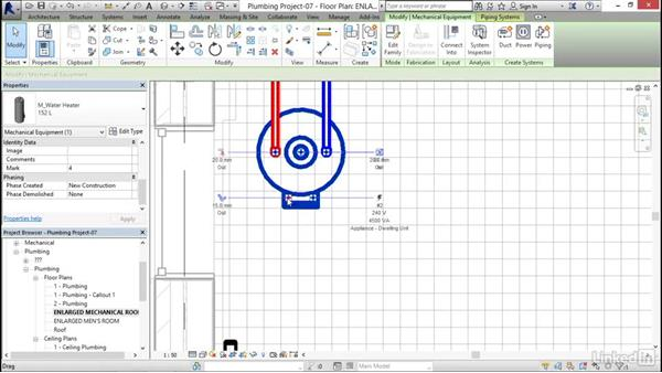 Exploring piping systems: Revit 2017: Essential Training for MEP (Metric)