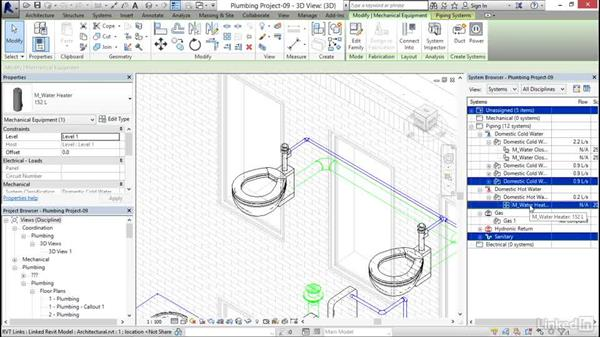 Looking at the System Browser: Revit 2017: Essential Training for MEP (Metric)
