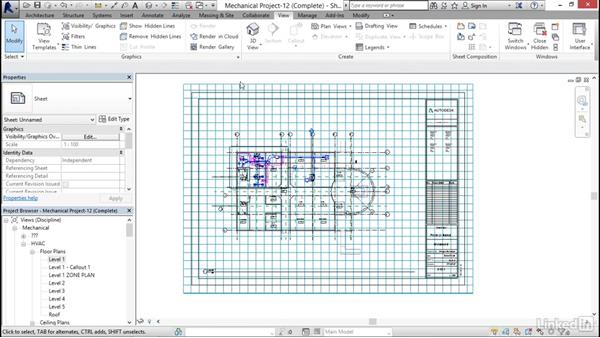Creating sheets: Revit 2017: Essential Training for MEP (Metric)