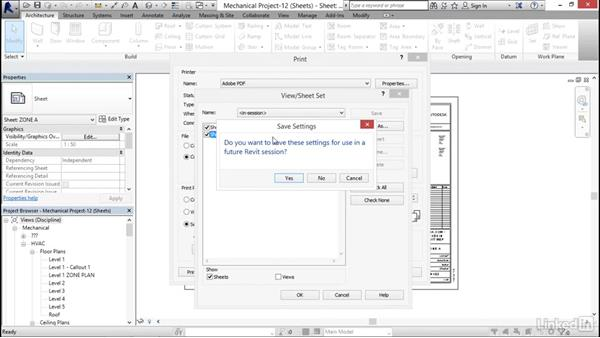Printing sheets: Revit 2017: Essential Training for MEP (Metric)