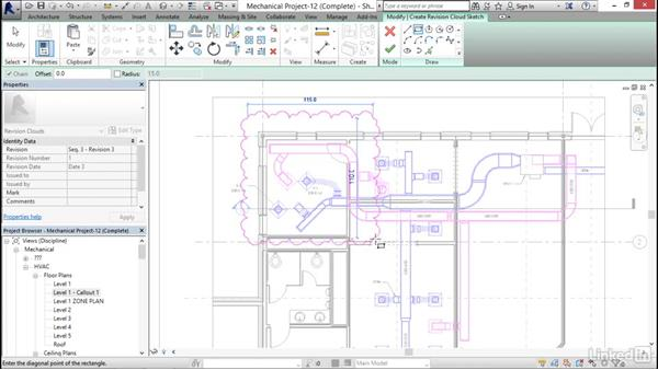 Making and controlling revisions: Revit 2017: Essential Training for MEP (Metric)