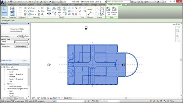 Linking architecture: Revit 2017: Essential Training for Structure