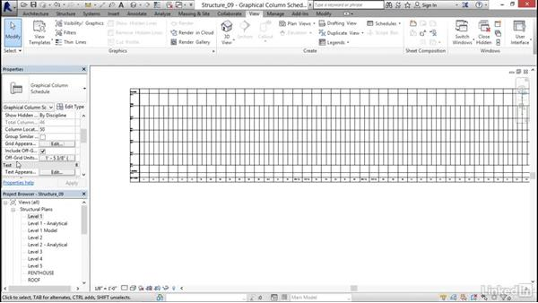 Creating a column schedule: Revit 2017: Essential Training for Structure