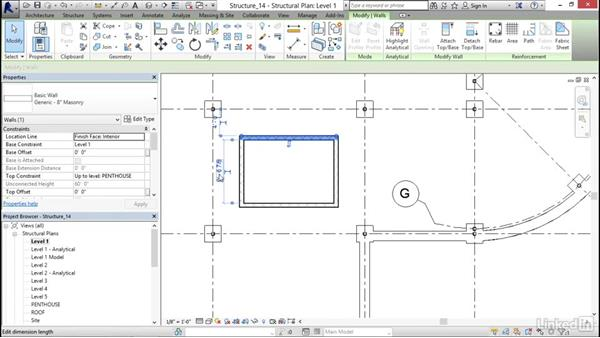 Creating a CMU elevator shaft: Revit 2017: Essential Training for Structure
