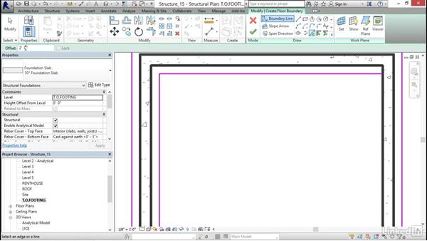 Foundation slabs: Revit 2017: Essential Training for Structure