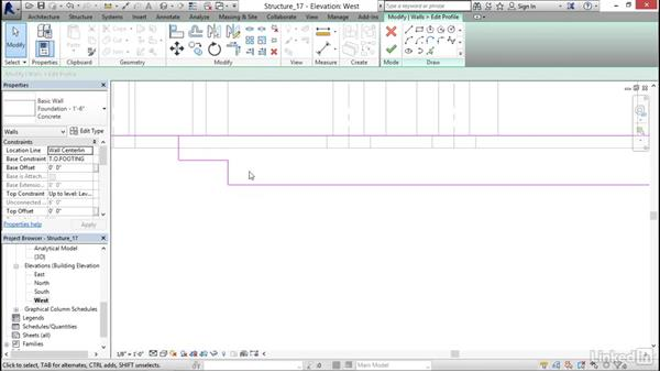 Adding step footings: Revit 2017: Essential Training for Structure