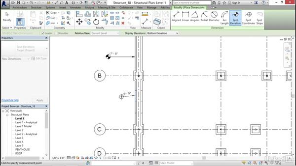 Tagging a step footing: Revit 2017: Essential Training for Structure