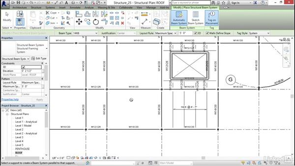 Adding joist systems: Revit 2017: Essential Training for Structure