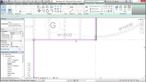 Cantelivering slab edges: Revit 2017: Essential Training for Structure