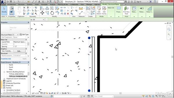 Perpendicular to face: Revit 2017: Essential Training for Structure