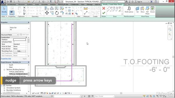 Sketching rebar: Revit 2017: Essential Training for Structure
