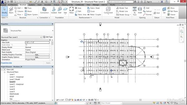 Modifying plan view symbology: Revit 2017: Essential Training for Structure