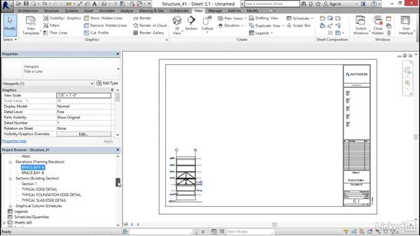 Creating a brace frame sheet: Revit 2017: Essential Training for Structure
